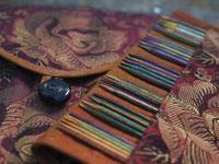 Sett med 15 cm lange pinner fra knitpro