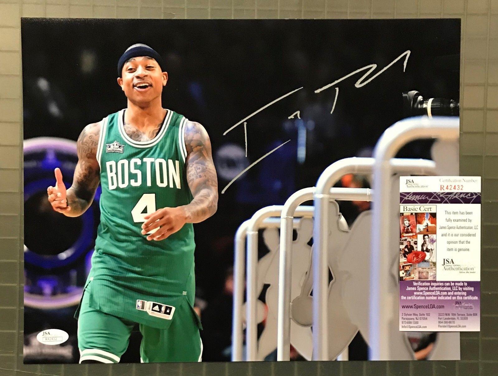 Isaiah Signed 11x14 Photo Autograph AUTO JSA COA Boston Celtics Auction  2   Basketball ce2c35626