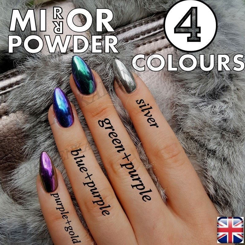 10 Of The Best Nail Art Instagrammers | Mirror powder, Green nail ...