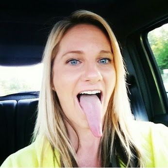 Are not Pretty girls long tongue