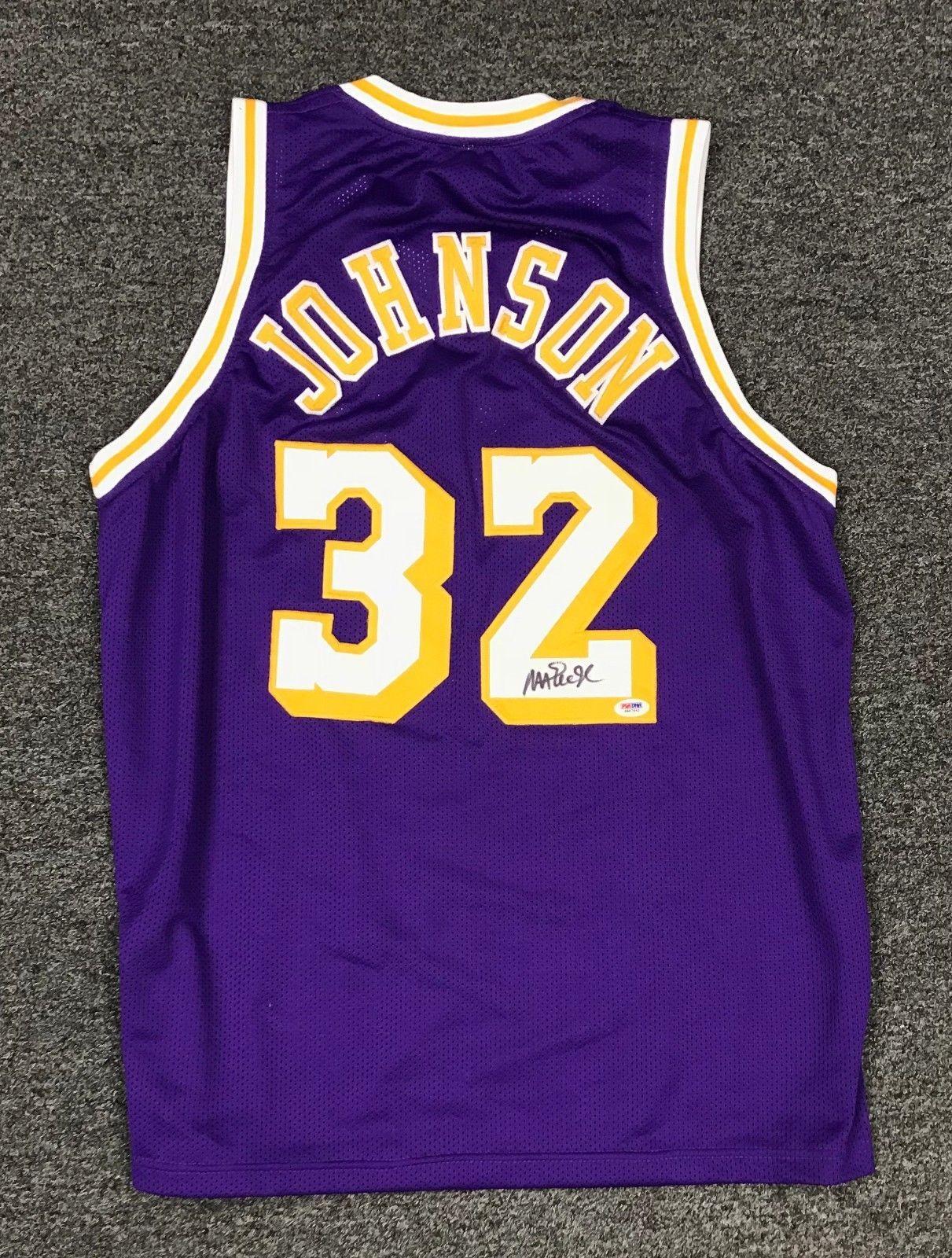 Magic Johnson  32 Signed Lakers Jersey Autographed AUTO Sz XL PSA DNA COA  HOF  Basketball 527a02fc9