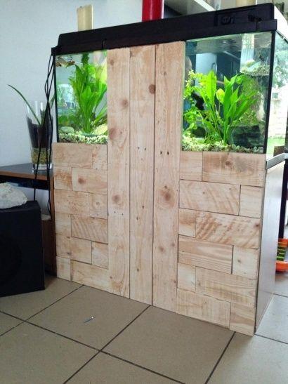cacher l arriere d un meuble aquarium multi project pallet ideas pinterest meuble. Black Bedroom Furniture Sets. Home Design Ideas