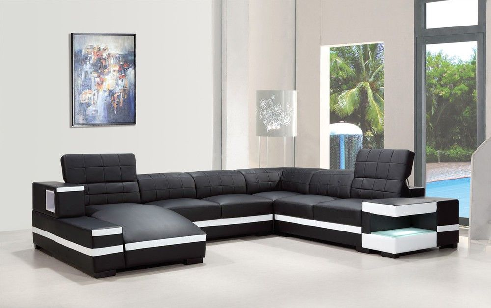 Divani Casa 1201 Modern Bonded Leather Sectional Sofa