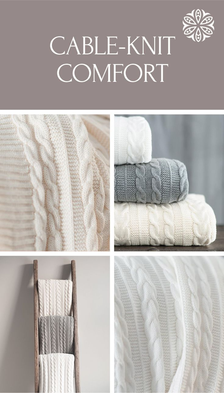 A knitted throw blanket for cozy nights in pics