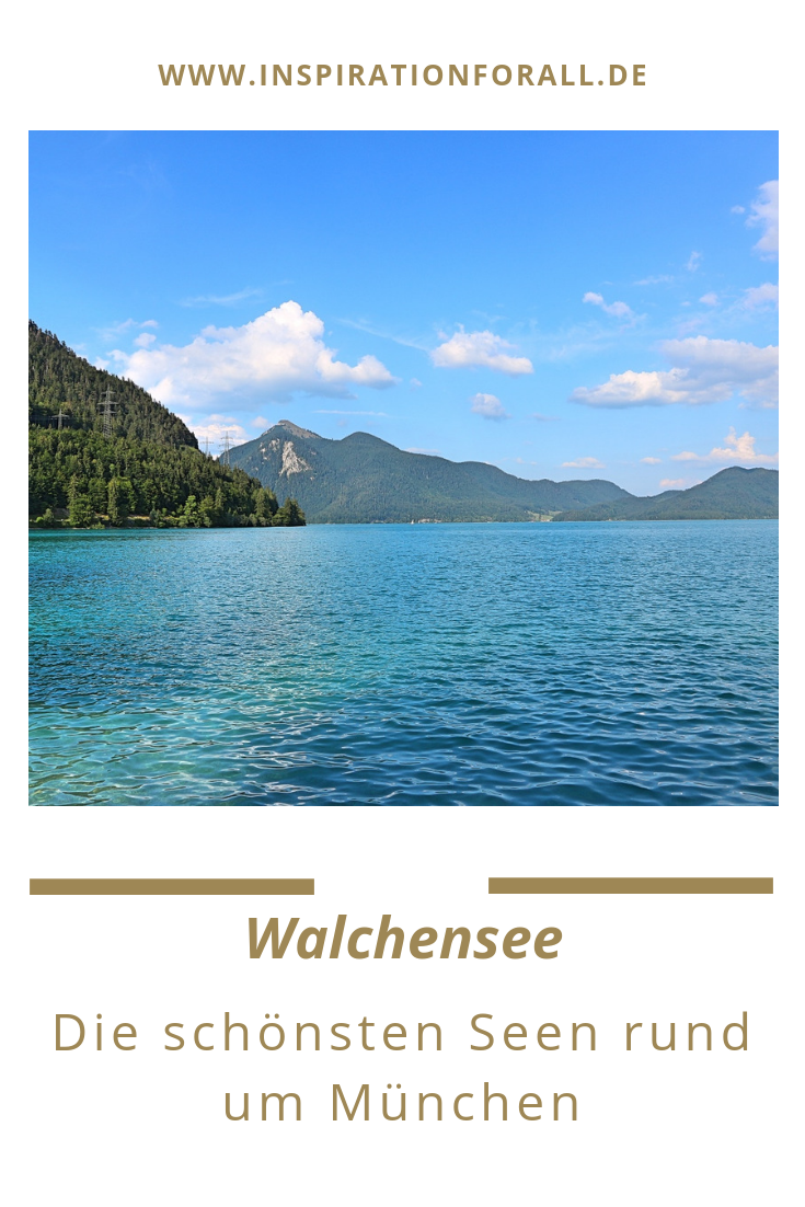 Seen in und rund um München mit einer schönen Landschaft ...