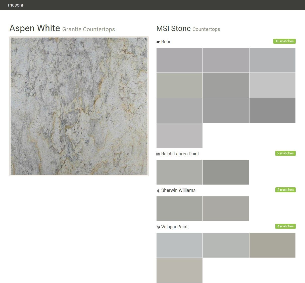 Aspen White Granite Countertops Msi Stone Behr Ralph Lauren Paint Sherwin Williams Valspar Click The Gray Visit On To See