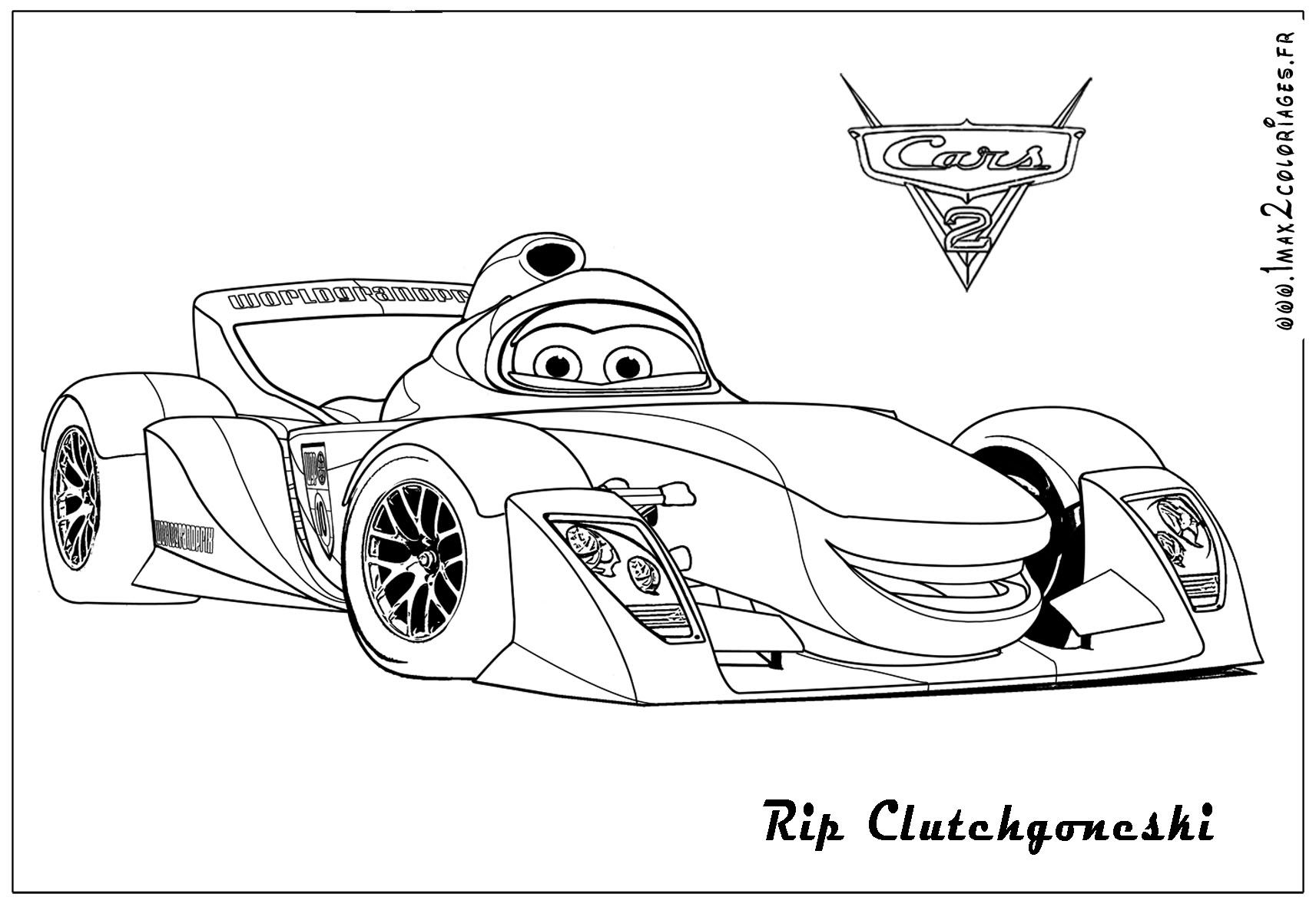 Disney Cars 2 Printable Coloring Pages