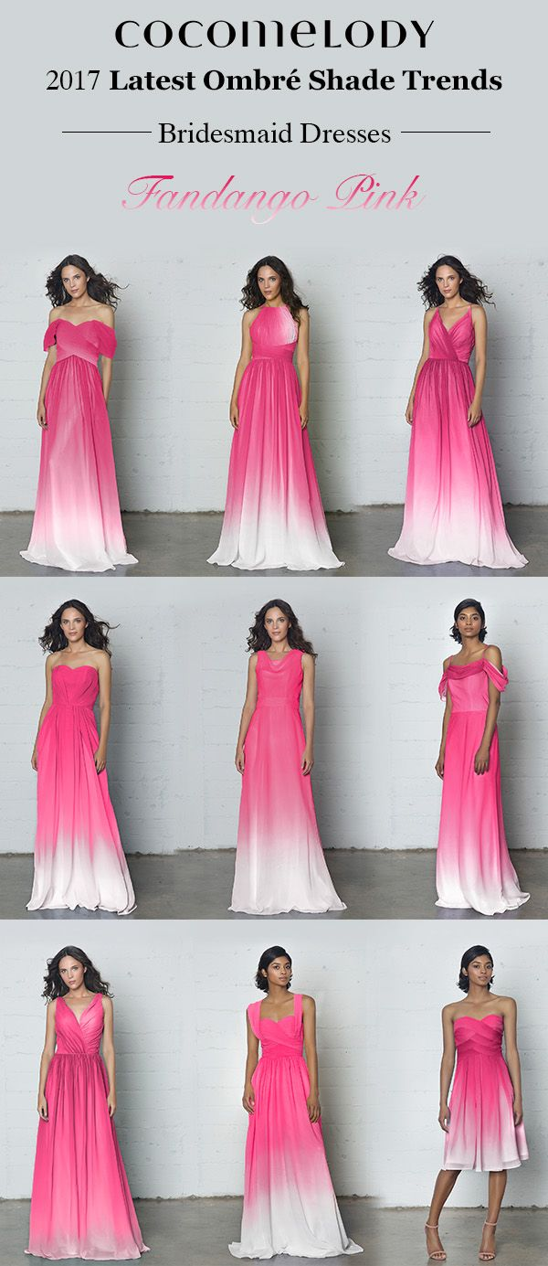 Latest Ombre Shade Trends Fandango Pink Bridesmaid Dresses ...