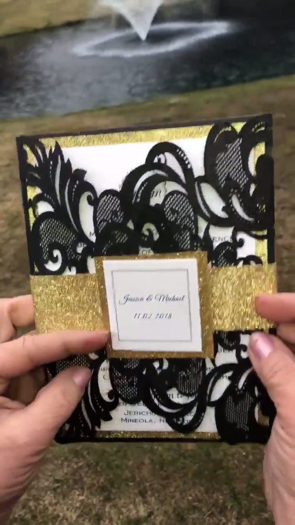 """Elegant wedding invites was an absolute pleasure to work with! I would recommend them to anyone. Beautiful invitations for a great price! Thank you so much, i couldn't be happier."""