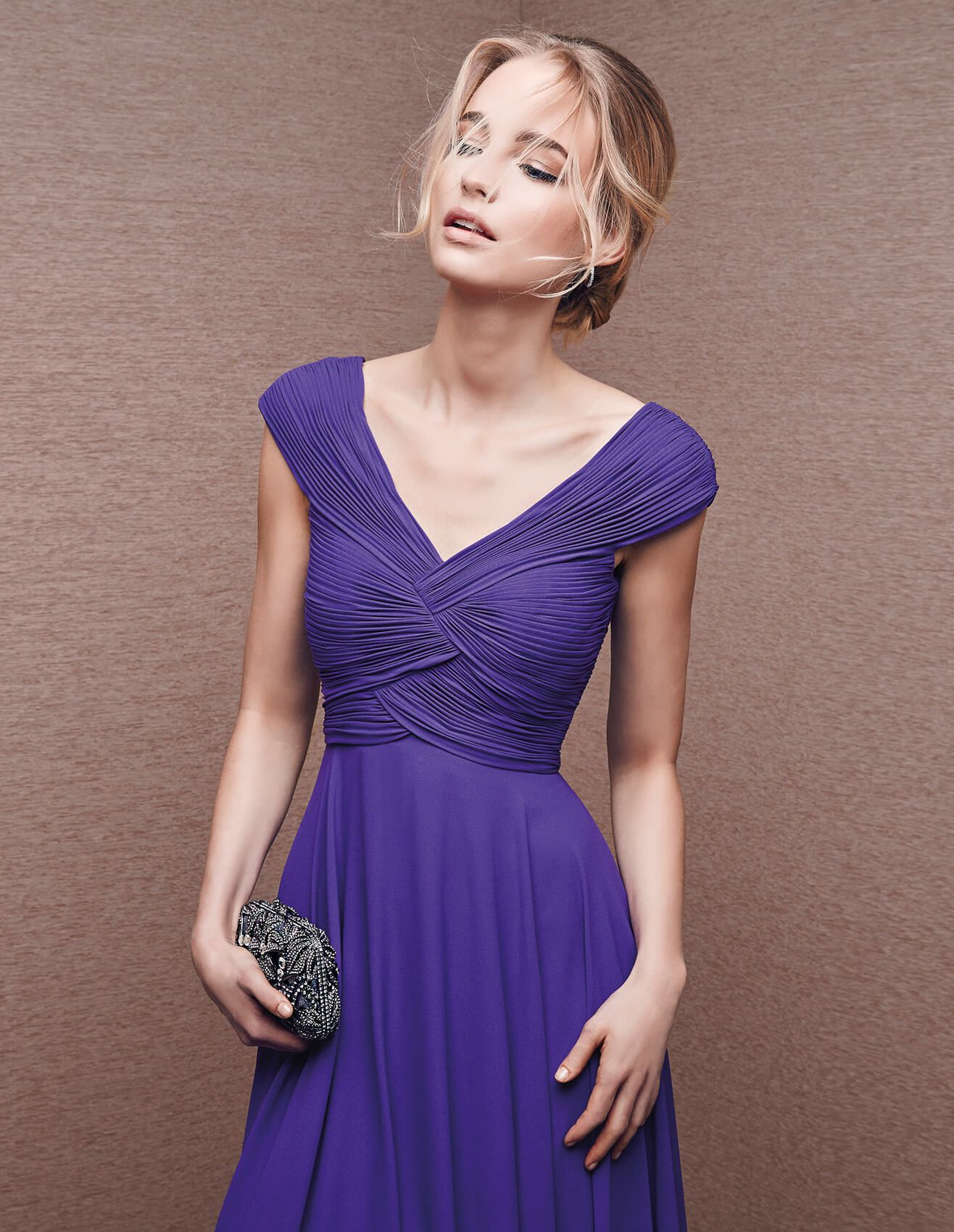 6686 - Maid of honour cocktail dress, in purple | St. Patrick | St ...