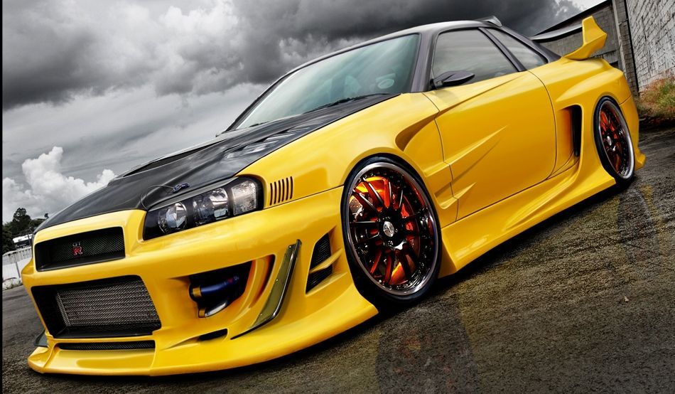 custom nissan skyline gtr v spec ii r 34 ars. Black Bedroom Furniture Sets. Home Design Ideas