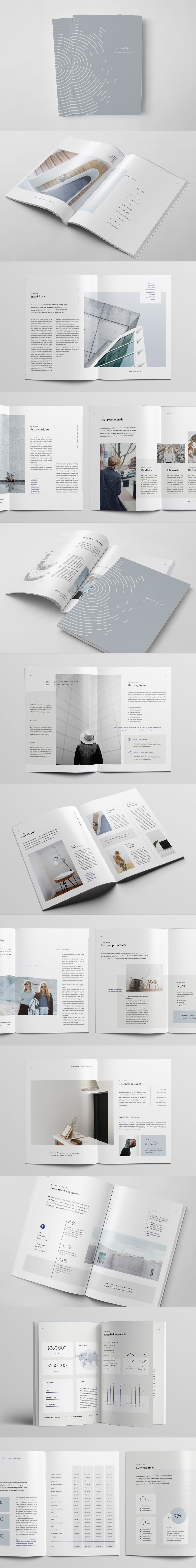 28 Pages Annual Report Template InDesign INDD - A4 and US letter ...