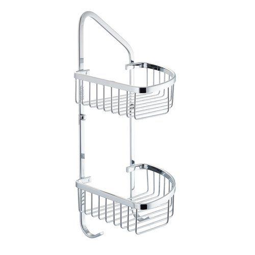 Tampico Double Corner Wire Soap Basket Belfry Bathroom Hanging Shower Caddy Double Shower Corner Shower Caddy
