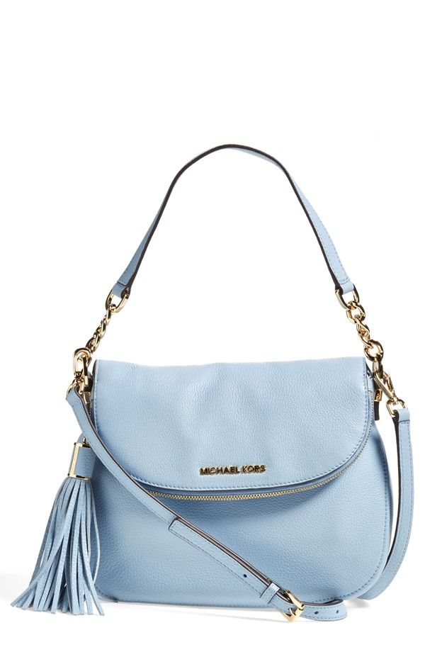 Leather �� sky blue leather tassels | Bedford Tassel - Medium\u0027 Convertible  Leather Shoulder Bag. Cheap Michael Kors HandbagsCheap ...