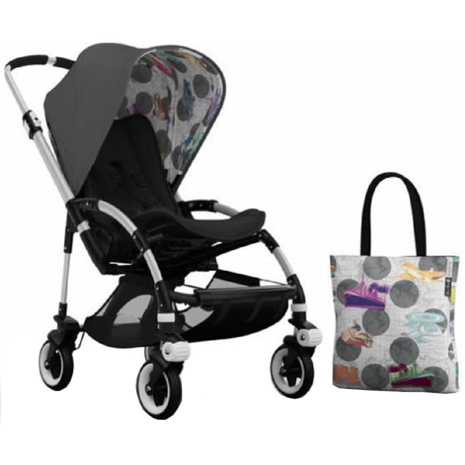 Bugaboo Bee3 Stroller Aluminum With Andy Warhol Accessory