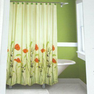 Room Springmaid CHANTAL Orange Green Brown Fabric Shower Curtain Target