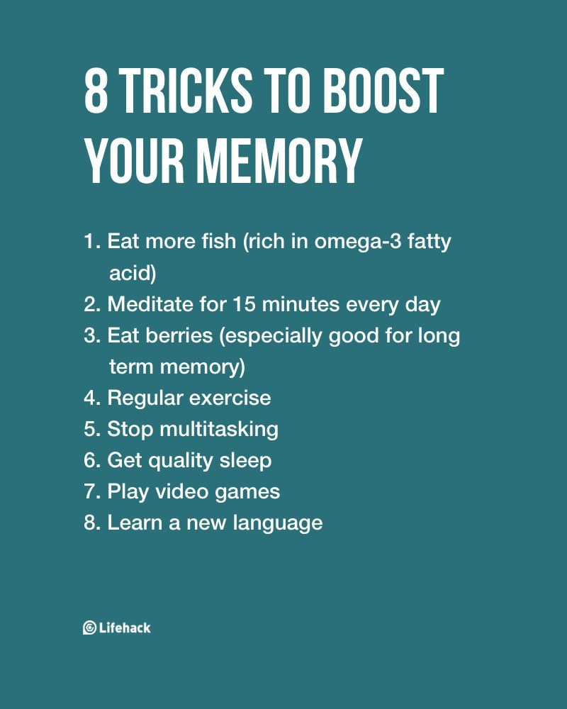 8 Tricks To Largely Boost Your Memory | getting fit
