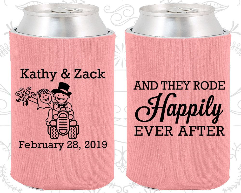 And They Rode Happily ever After, Custom Wedding Favors, Tractor ...