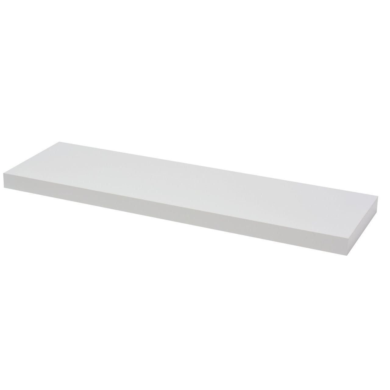 Faszinierend Hängeregal Weiß Hochglanz Ideen Von Trendstabil Schwebendes Wandregal, Bücherregal Selbsttragend, 80 X
