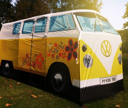 Limited edition Flower Power VW C&er Van Tent & Limited edition Flower Power VW Camper Van Tent | Quirky ...