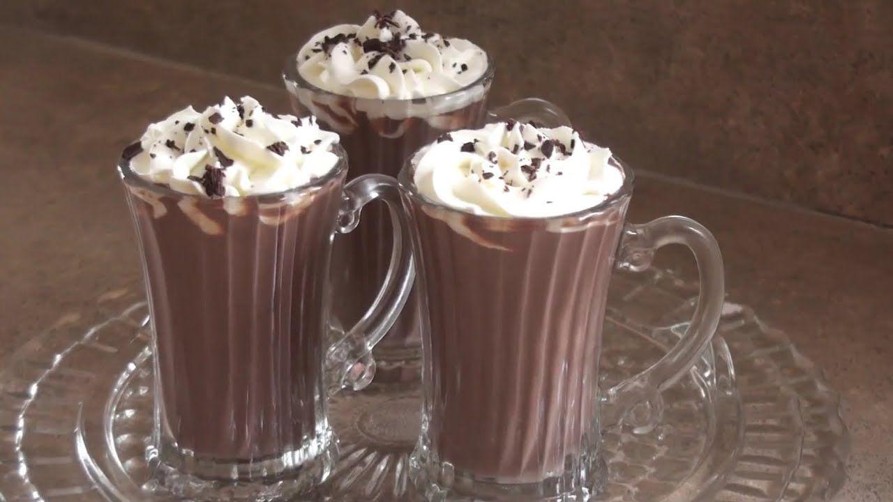 مشروب الشوكولاتة الساخن ب 5 دقائق هوت شوكليت اطيب من المحلات Food Desserts Pudding