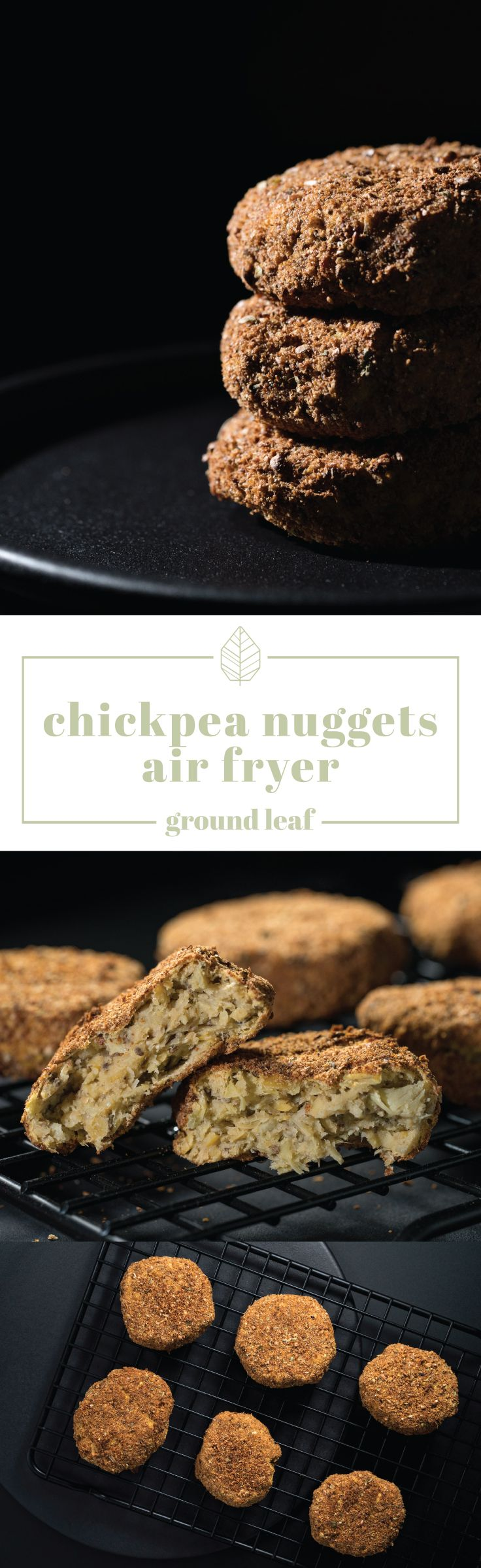 Air fryer chickpea nuggets vegan meat recipe