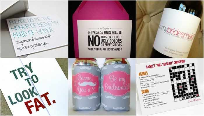 17 Fun Ways To Ask 'Will You Be My Bridesmaid