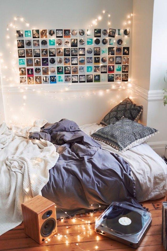 Awesome Schlafzimmer Wande Dekorieren #9: Deko Ideen Schlafzimmer Wand Mit Fotos Und Beleuchtung