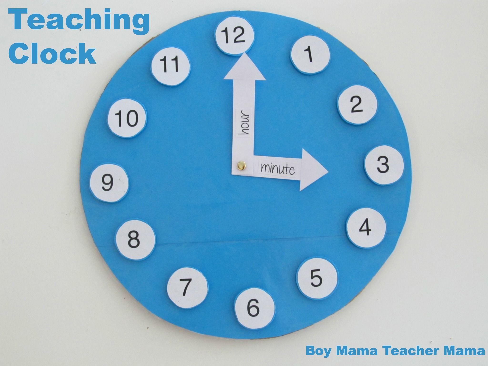 Teacher Mama: A Homemade Teaching Clock   BLUE   Teaching clock