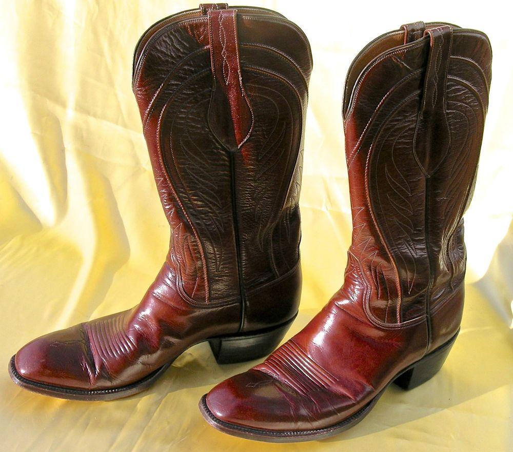 Lucchese Classics 10D Men's Western Cowboy Boots Brown Goatskin ...