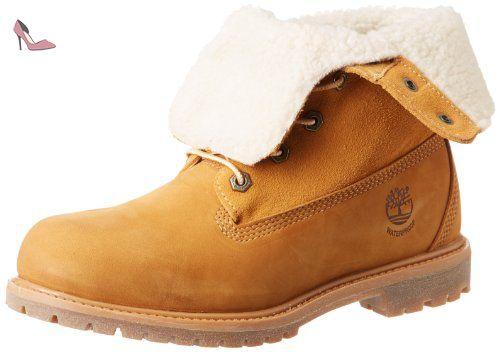 Timberland Auth Teddy Fleece Wp Wht, Boots femme Jaune