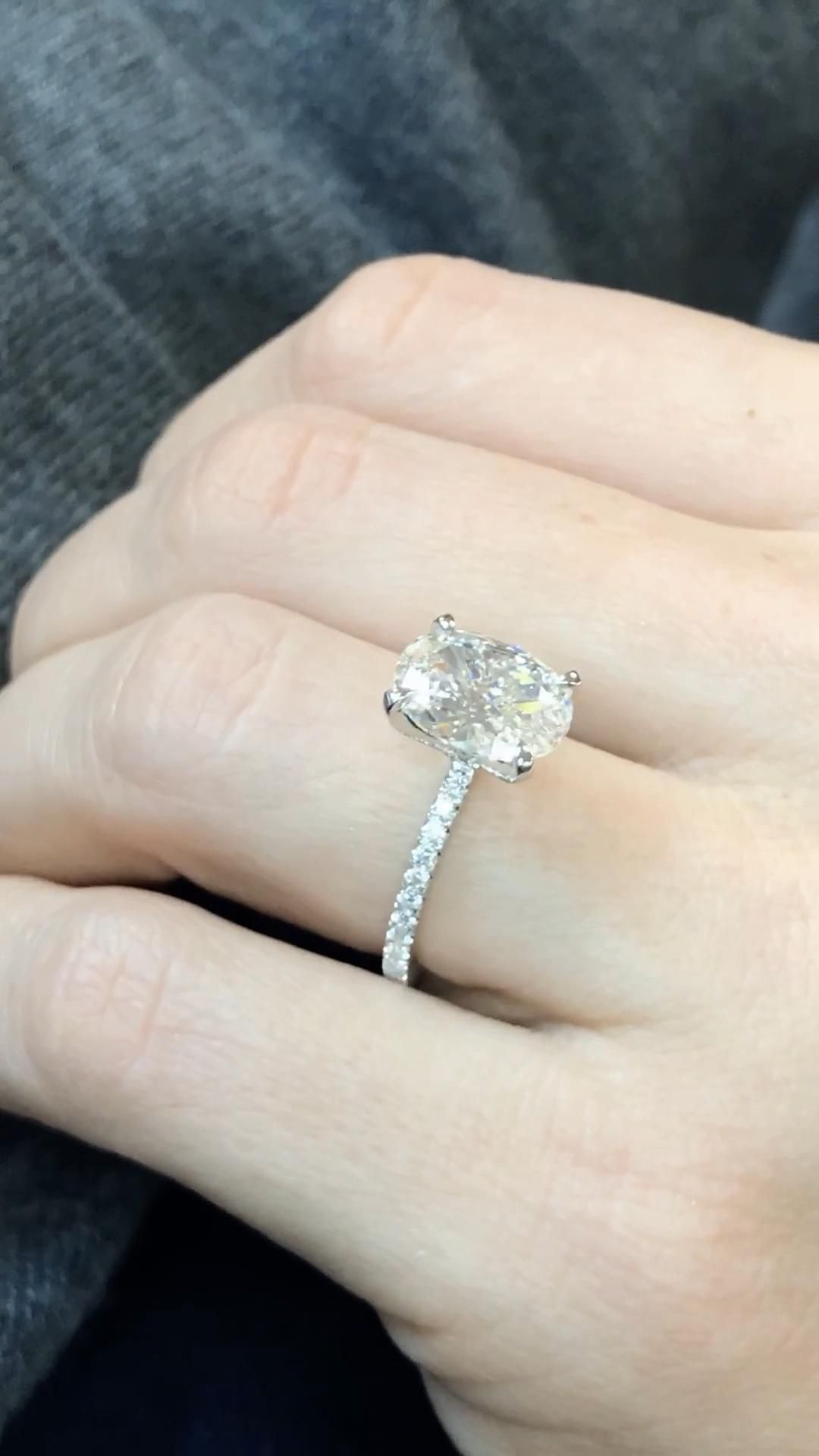 This oval engagement ring combines timeless beauty with modern design. Featuring a magnificent oval cut diamond center, set on a classic solitaire style ring to be enjoyed for generations.   Contact Ascot Diamonds Atlanta to design your own diamond ring. ✨✨  #ascotdiamonds #ovalengagementrings