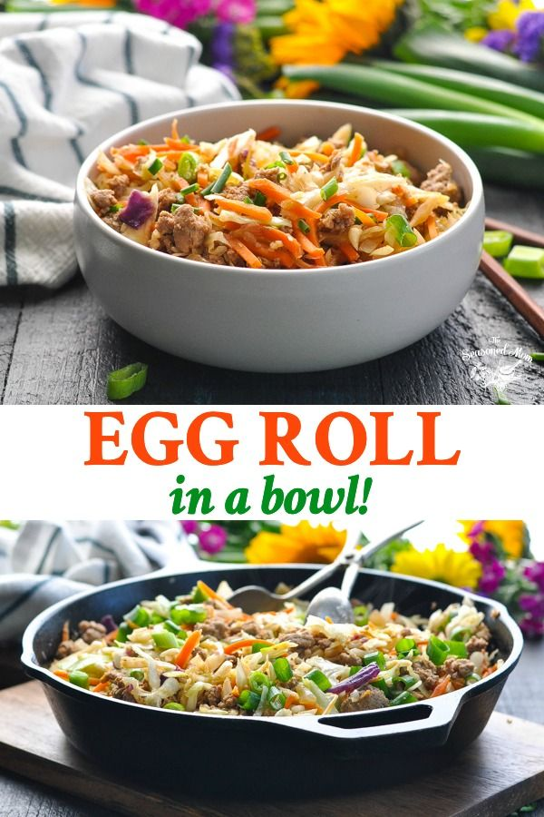 "Photo of One Skillet ""Egg Roll in a Bowl"" + {a Video!}"
