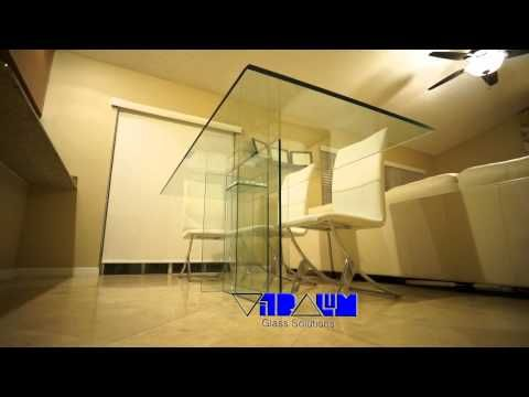 Glass Furniture Contemporary Beveled Mirrors Frameless Etched