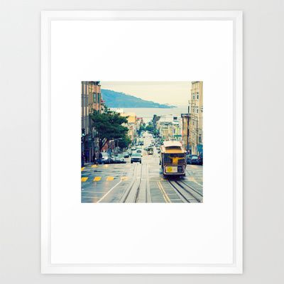San Francisco Cable Car Framed Art Print | Framing | Pinterest | San ...