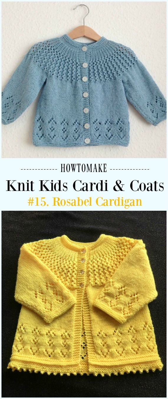 Kids Cardigan Sweater Free Knitting Patterns Pinterest Knitting