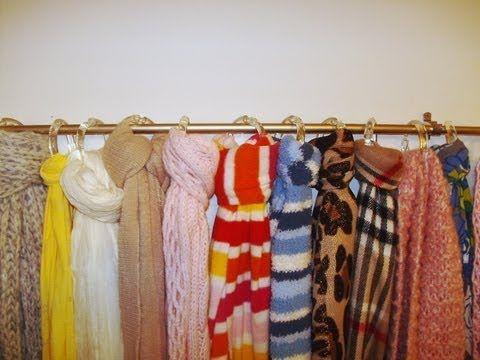 ▶ DIY: How to Make a Scarf Organizer for Under $7 - YouTube