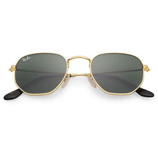 42b6adb031 Ray-Ban Hexagonal Flat Gold Sunglasses