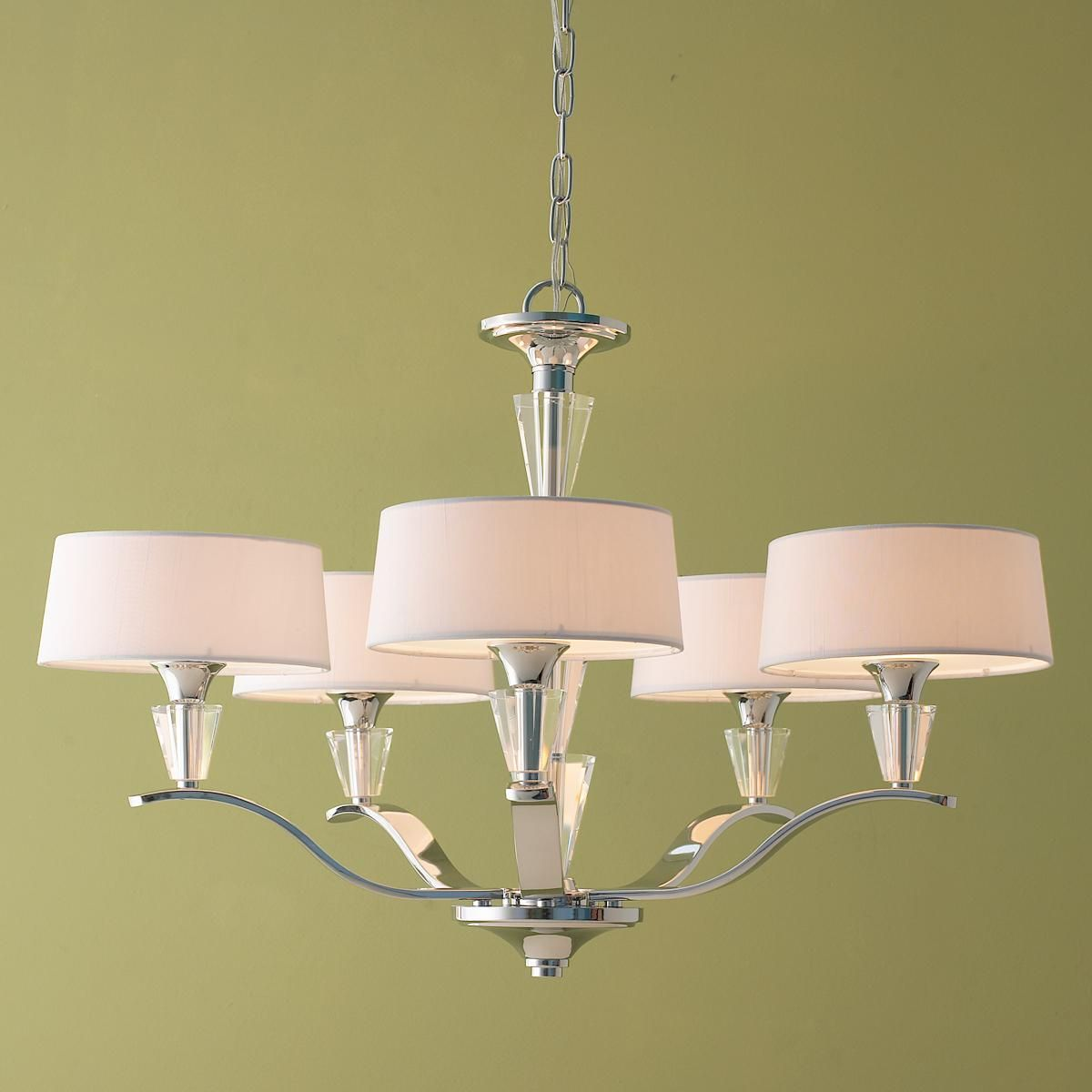 Maybe For Diningroom? //Modern Tiered Crystal And Chrome