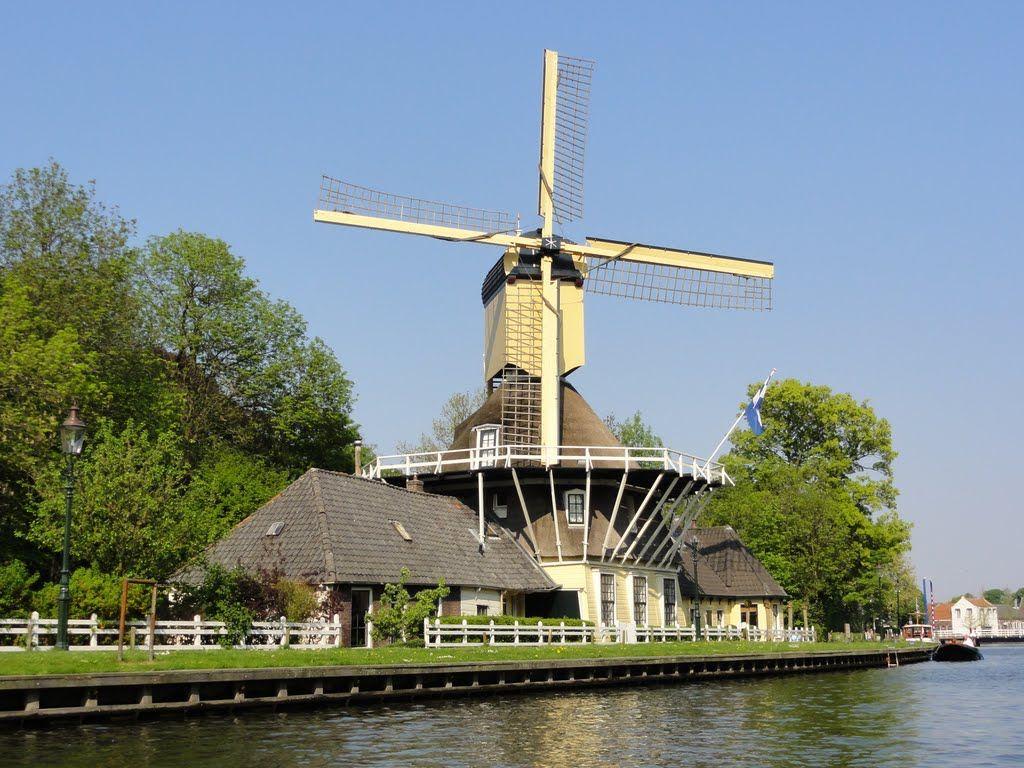 ' 't Haantje'. Windmill Weesp.
