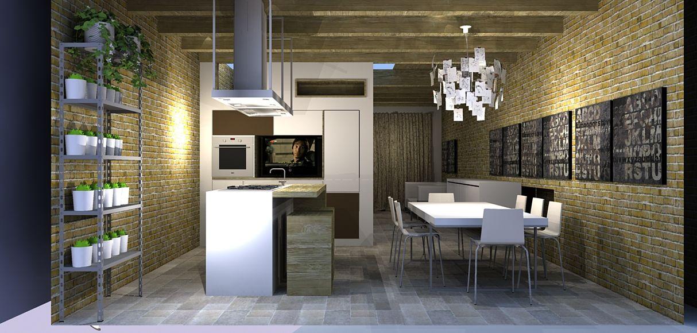 Parte di una cucina nel sottoscala | projects | Pinterest | Cucina