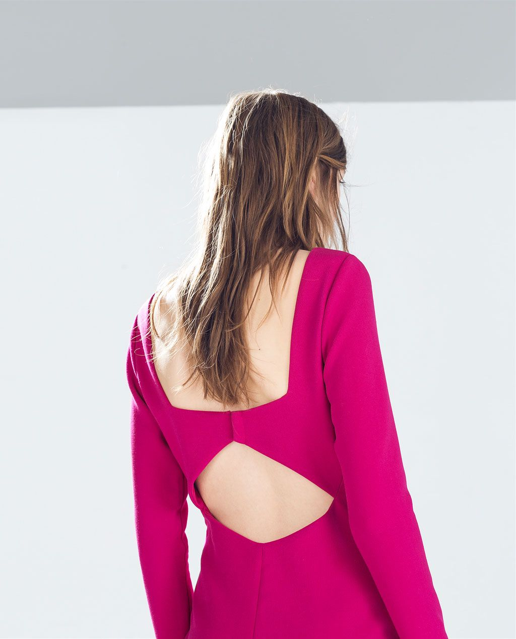 ZARA - WOMAN - BACKLESS DRESS WITH  HOOK-AND-EYE FASTENING