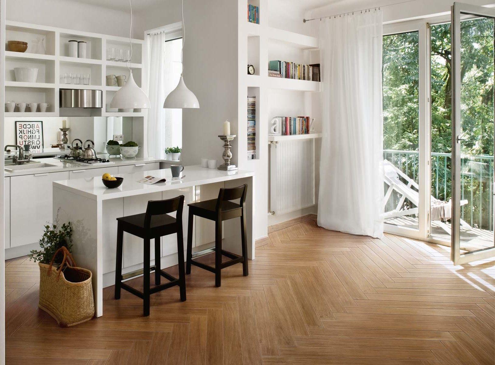 Épinglé par Delphine Cariou sur Home   Intérieur de cuisine, Carrelage imitation parquet ...