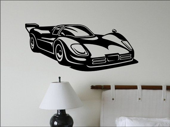 Race Car Wall Decal - Kids Bedroom Wall Decor | Boys Rooms ...