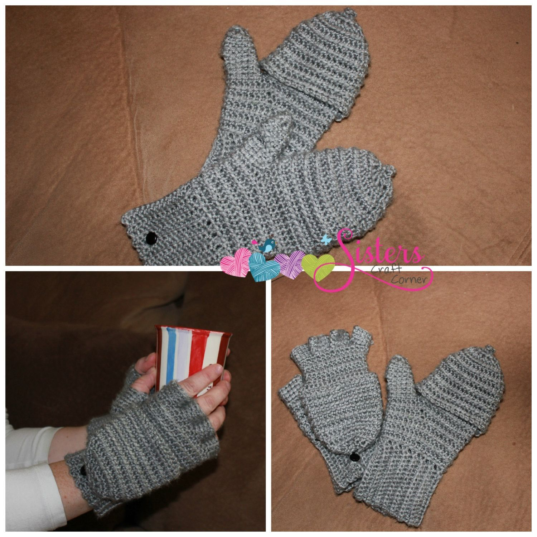 Convertible Mittens - Convertible Gloves - Fingerless Gloves ...