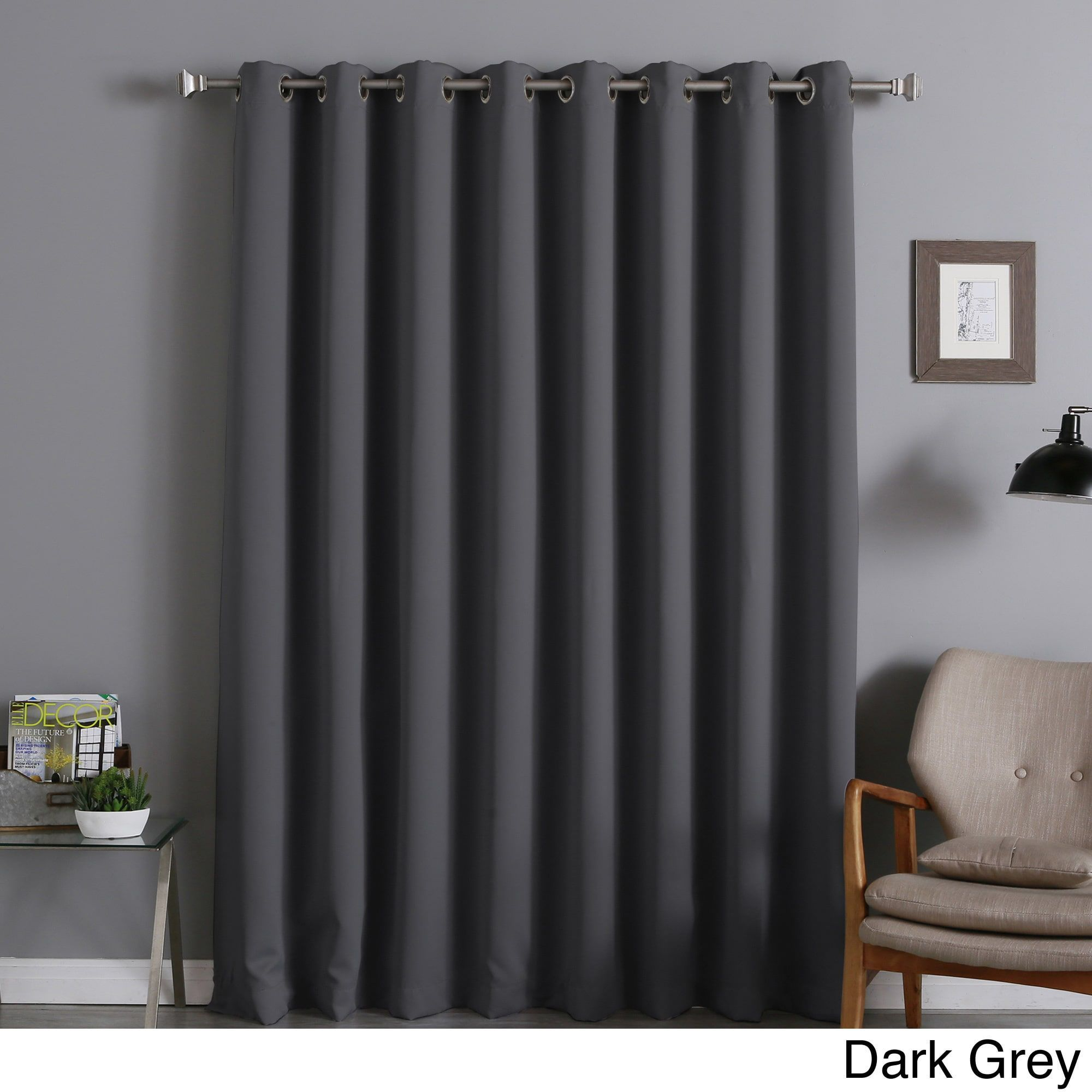 Aurora Home Extra Width Thermal Insulated 96 Inch Blackout Curtain Panel