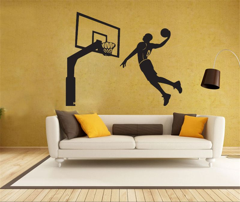 Handmade Graphic vinyl wall sticker of Michael Jordan for kids room ...
