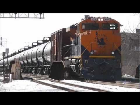 Cnj Heritage Unit Ns 1071 Dpu On Unit Oil Train Chicago 030313