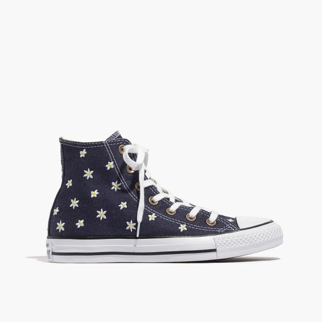 2d8bdab6acce68 Converse Limited Edition Chuck Taylor All Star High Denim Frayed Flower  Women s Sneakers