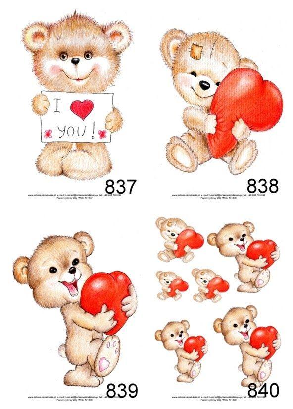 Papier Ryzowy 10000wz Papiery Ryzowe Decoupage Cz7 6659039406 Oficjalne Archiwum Allegro Teddy Animals Teddy Bear